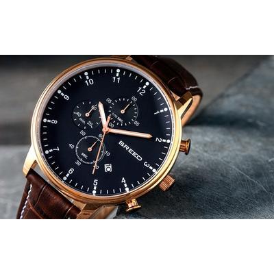 Breed Holden BRD7801 Chronograph Bracelet Watch w/ Date - Silver