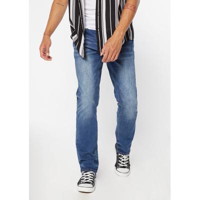 Rue21 Mens Dark Wash Faded Straight Leg Jeans - Size 34X34