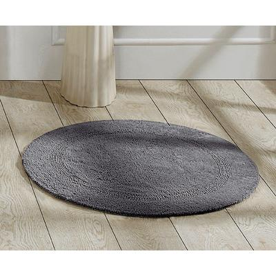 """Lux Collections Bath Mat Rug 30"""" Round by Better Trends in Gray"""