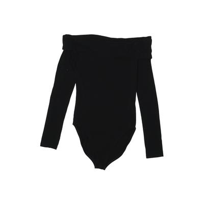 Miss Selfridge Bodysuit: Black Solid Clothing - Size 2