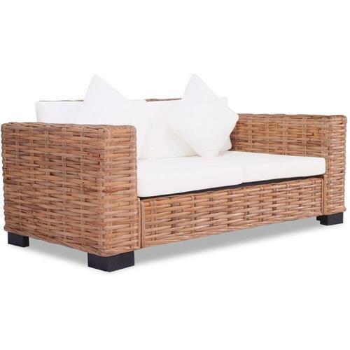 Topdeal 2-Sitzer-Sofa Natürliches Rattan 10525