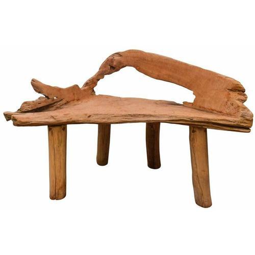 Wurzelholzbank 'Root Bench' aus recyceltem Teakholz, Länge ca. 100 cm
