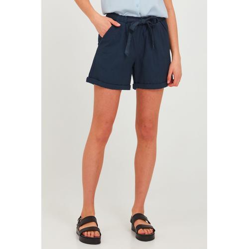 OXMO Chinoshorts Lina, (mit Gürtel), mit Gürtel blau Damen Shorts Bermudahosen Hosen