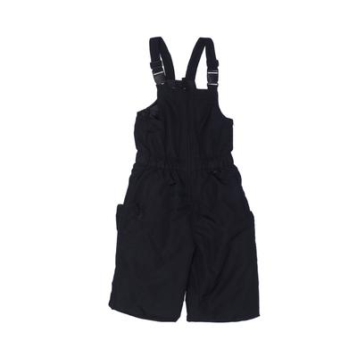 Roebuck & Co. Snow Pants With Bib - Mid/Reg Rise: Black Sporting & Activewear - Size 7