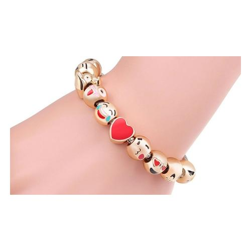 Armband: Emoji Armband mit 5 Charms/1