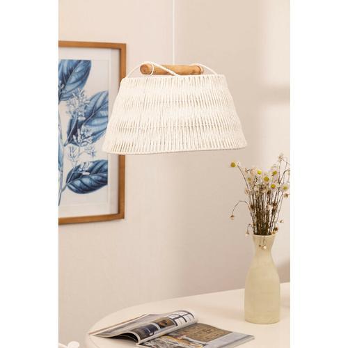 Lampe Druk Geflochtenes Papier Weiss - Weiss - Sklum