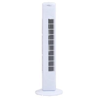 vidaXL Ventilateur tour avec minuterie Φ24x80 cm Blanc