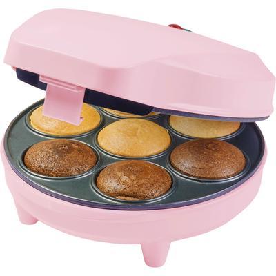 bestron Cupcake-Maker Sweet Dreams, 700 W, im Retro Design, Antihaftbeschichtung, Farbe: Rosa rosa Küchenkleingeräte SOFORT LIEFERBARE Haushaltsgeräte
