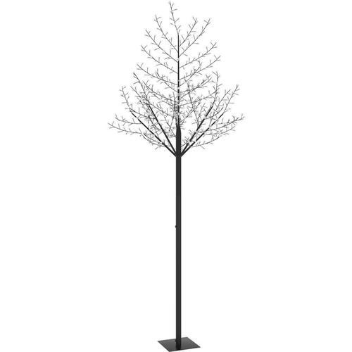 Weihnachtsbaum 600 LEDs Kaltweißes Licht Kirschblüten 300 cm