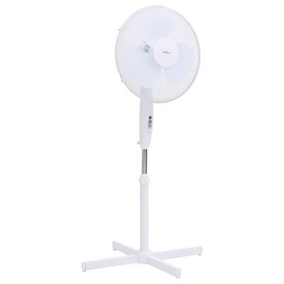vidaXL Ventilateur sur pied Φ40 cm 120 cm Blanc