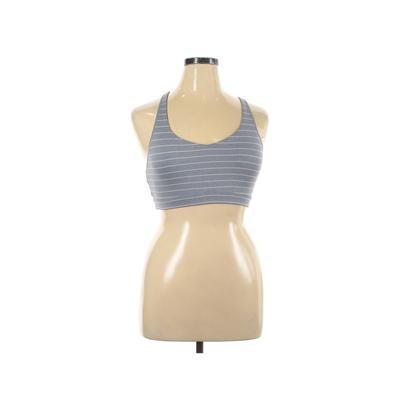 Athleta Sports Bra: Gray Print Activewear - Size 17