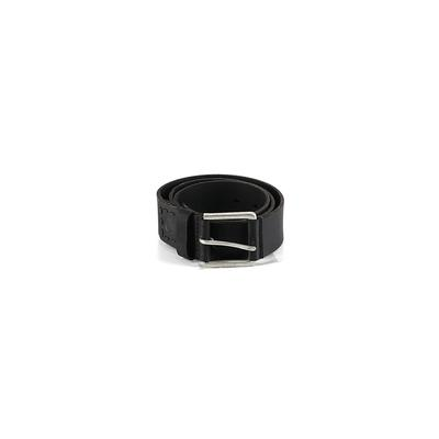 Timberland Leather Belt: Black Solid Accessories - Size 34