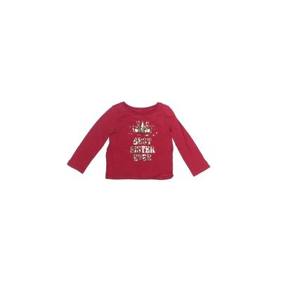 The Children's Place - The Children's Place Long Sleeve T-Shirt: Red Solid Tops - Size 12-18 Month