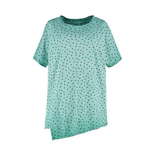 Deerberg Damen Jersey Shirts Kimmi smaragdgrün gepunktet