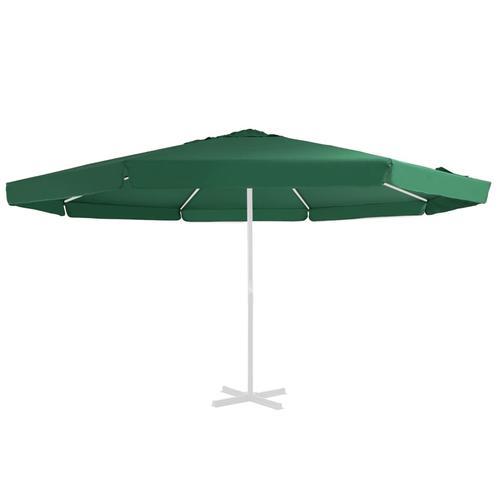 vidaXL Ersatzbezug für Sonnenschirm Grün 500 cm