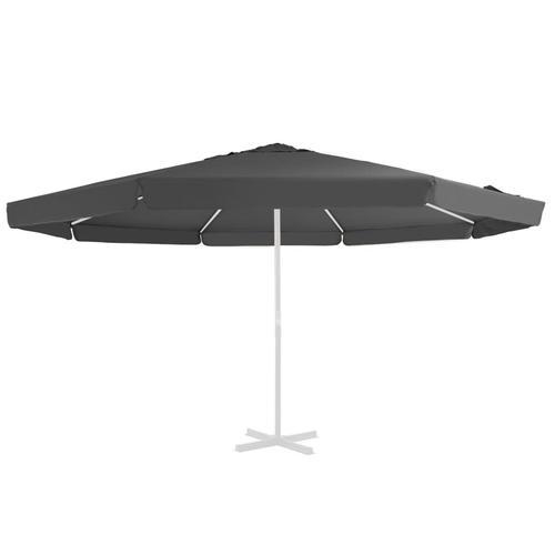vidaXL Ersatzbezug für Sonnenschirm Anthrazit 500 cm