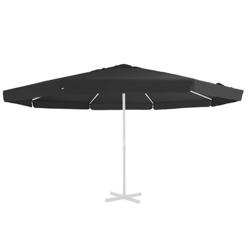 vidaXL Ersatzbezug für Sonnenschirm Schwarz 500 cm