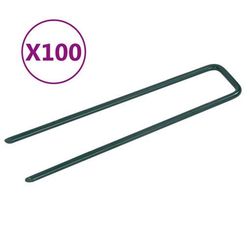 vidaXL Nägel für Kunstrasen 100 Stk. U-Form Eisen