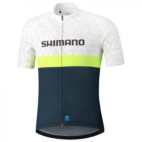 Shimano - Shimano Team Jersey - Radtrikot Gr M weiß/schwarz/grau