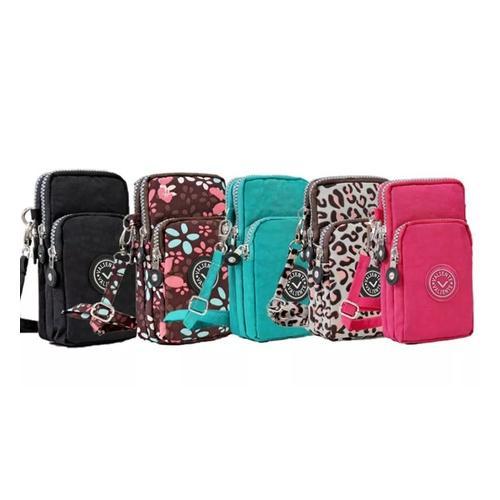 Smartphone-Tasche: Grün + Pink/2