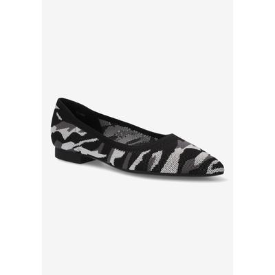Women's Mireya Flat by Bella Vita in Black Grey Camo (Size 10 M)