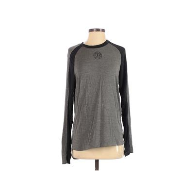 Gold's Gym Gold's Gear Active T-Shirt: Gray Color Block Activewear - Size Small