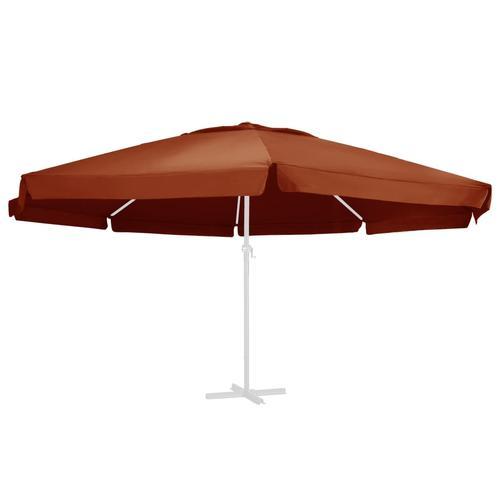 vidaXL Ersatzbezug für Sonnenschirm Terracotta-Rot 600 cm