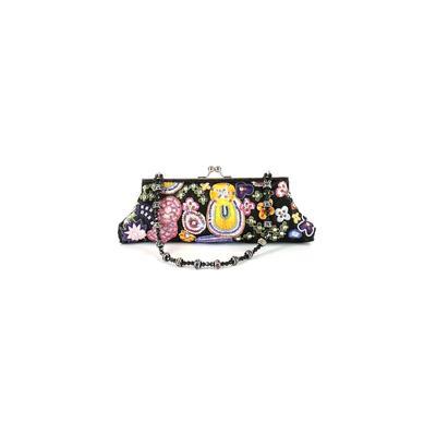 Fashion Express - Fashion Express Clutch: Black Floral Bags