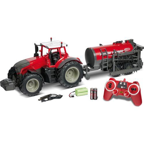 CARSON RC-Traktor Traktor mit Tankwagen, 1:16 rot Kinder RC Trucks, Traktoren Bau Autos, Eisenbahn Modellbau