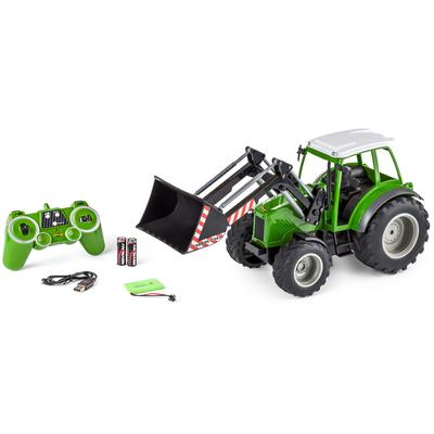 CARSON RC-Traktor Traktor mit Frontlader, 1:16 grün Kinder RC Trucks, Traktoren Bau Autos, Eisenbahn Modellbau