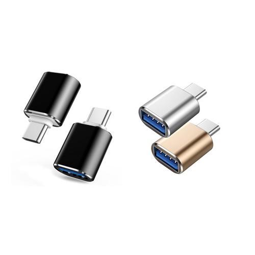 USB-C to USB 3.0 Adapter - Black x2