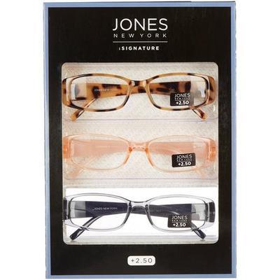 Jones New York Womens 3-Pc. Square Reading Glasses