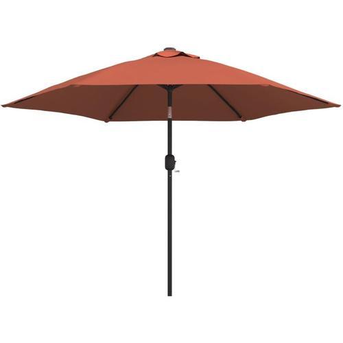 Sonnenschirm mit Metall-Mast Terracotta-Rot 300 cm