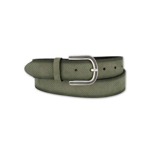 BERND GÖTZ Ledergürtel, mit samtigem Touch und fein ziselierter Schließe grün Damen Ledergürtel Gürtel Accessoires