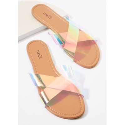 Rue21 Womens Clear X Band Sandals - Size 9