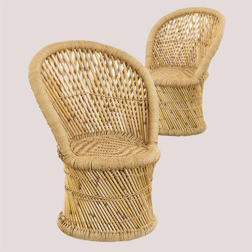 SKLUM Packung mit 2 Ganon Bambus Sesseln Bambus - Bambus