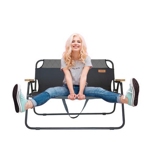Klappbank Campingbank Gartenbank James tragbar klappbar 2 Sitzer Campingstuhl