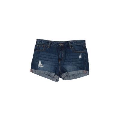 YoShion Denim Shorts: Blue Solid...