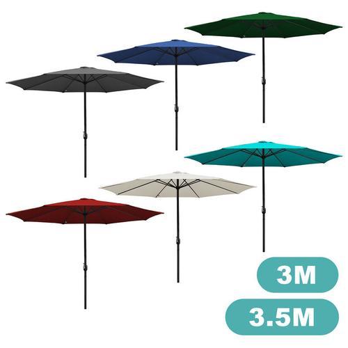 3.5m Sonnenschirm Marktschirm mit Handkurbel UV30+ Outdoor-Schirm Terrassen Gartenschirm Beige 3.5m