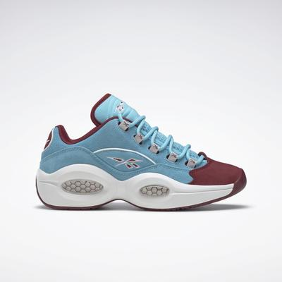 Reebok Unisex Question Low Men's Basketball Shoes in Digital Blue/Classic Burgundy/Ftwr White Size M 9 / W 10.5 - Basketball Shoes