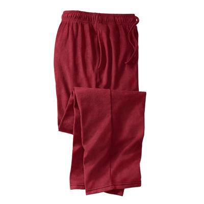 Men's Big & Tall Lightweight Cotton Jersey Pajama Pants by KingSize in Rich Burgundy (Size 3XL)