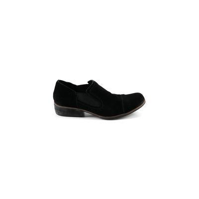Korks Flats: Black Solid Shoes - Size 9 1/2