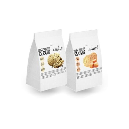 Protein-Eiscreme: 2 / Erdbeere + Zitrone