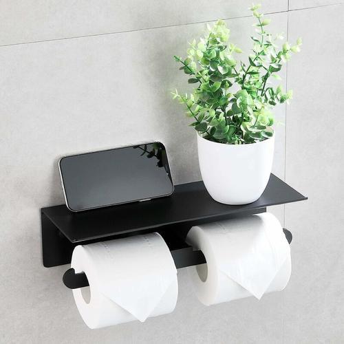 Betterlife - Doppelte selbstklebende Toilettenpapier Tür Roller Toilettenpapier ohne