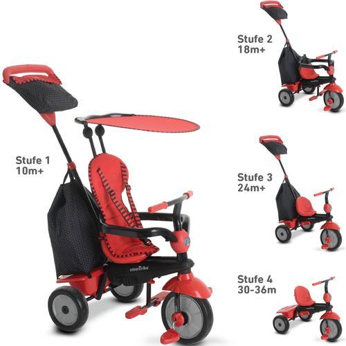 smarTrike Dreirad Glow, Rot, mit Sonnenschutzdach rot Kinder Dreiräder Kinderfahrzeuge