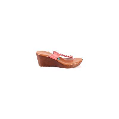 Italian Shoemakers Footwear - Italian Shoemakers Footwear Wedges: Pink Solid Shoes - Size 7 1/2