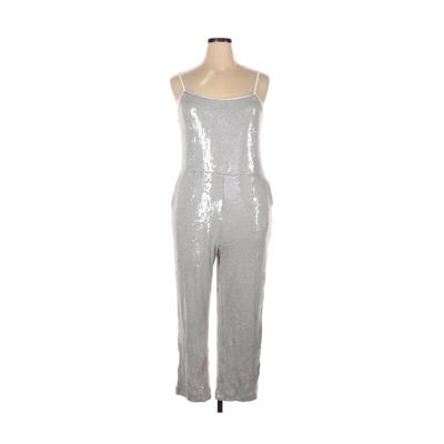Anthropologie Jumpsuit: Silver Solid Jumpsuits - Size 14