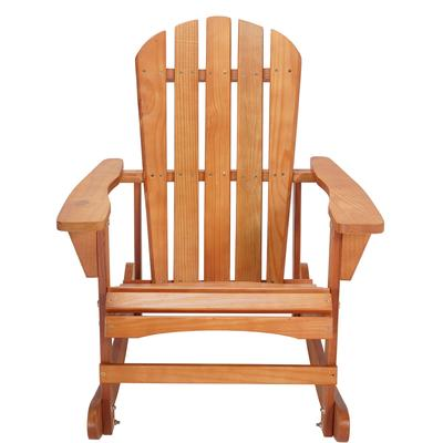 Adirondack Wooden Rocking Chair by Saint Birch in Walnut