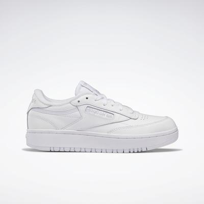 Reebok Women's Club C Double Shoes in Ftwr White/Ftwr White/Cold Grey 2 Size 9 - Court Shoes