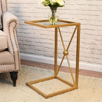 Archer Side Table Gold , Gold